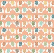 Jungle Friends - 7038 - Elephants on Peach Background Background  - 2198_P - Cotton Fabric